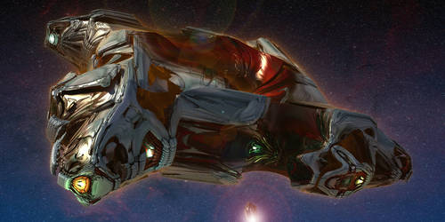 Semi Organic Alien Deep Space Cruiser [view 2]