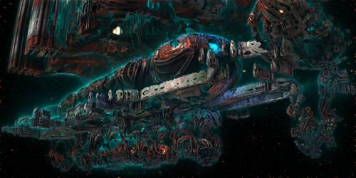 Organic Starship Docking Bay