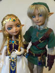 Link and Princess Zelda (Custom EAH dolls)