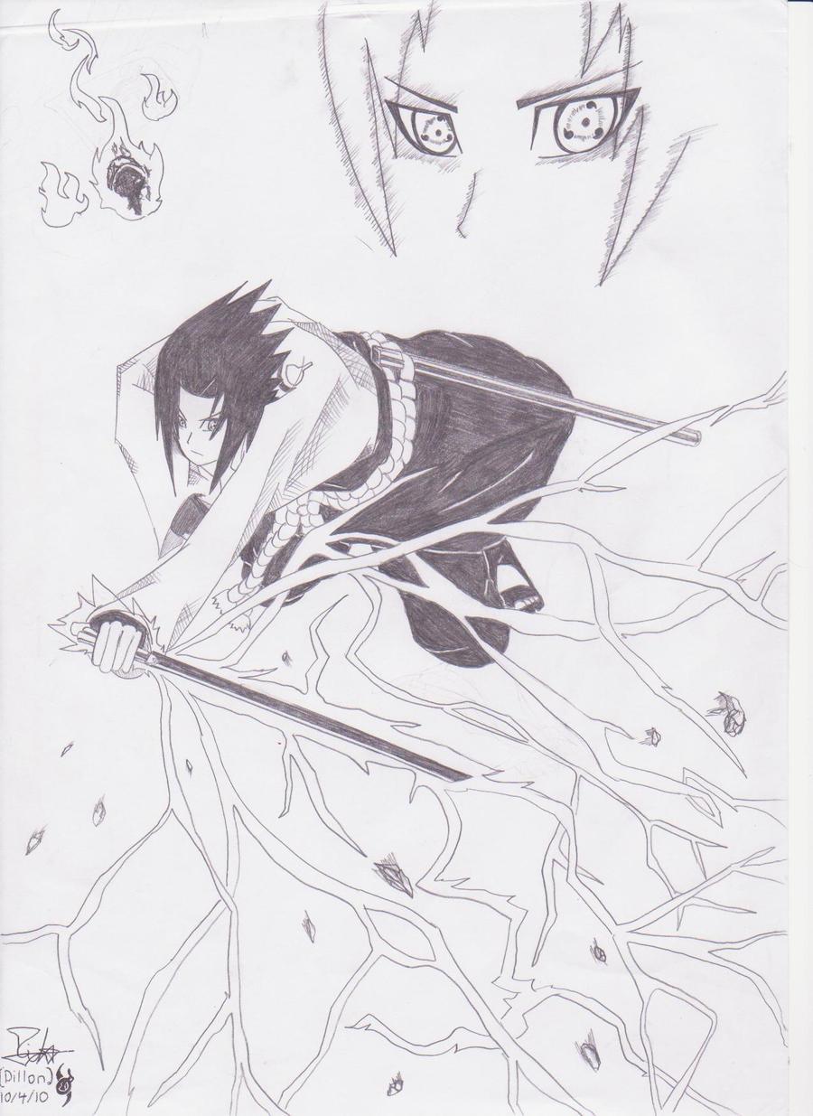 Uchiha Sasuke-Chidori Nagashi by AA-AnimeArtist on DeviantArt