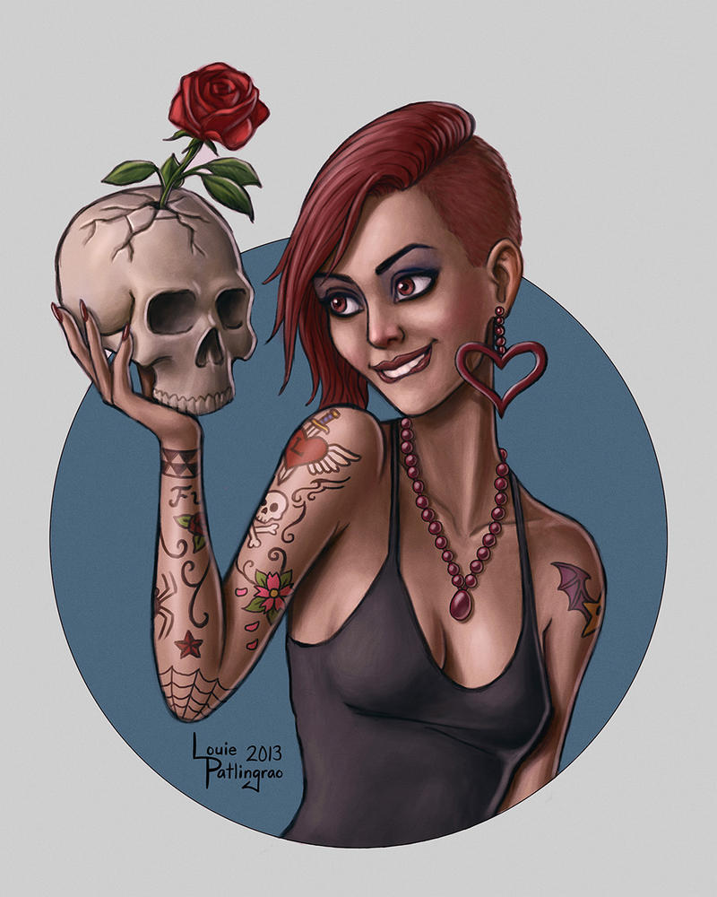 Skull Rose by LouBrication
