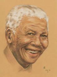 Nelson Mandela by mojunheem