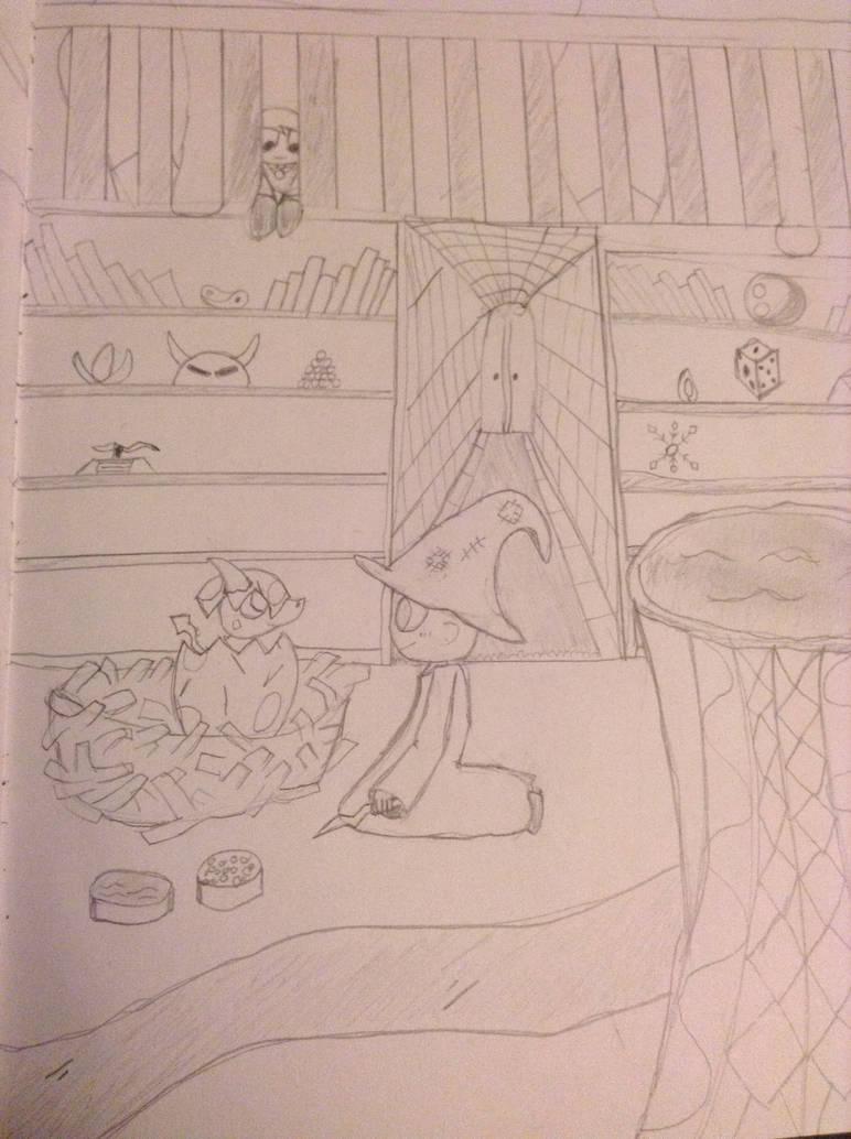 Dragon Egg Hatching Drawing