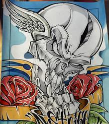 Skull n roses by ASCOE