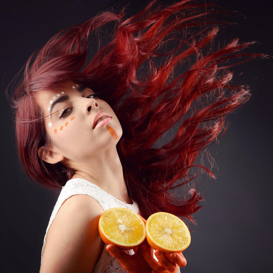 Orange woman by maribely