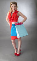 Woman with Shopping Bags Picture