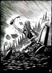 Grave monster by Asgrimson