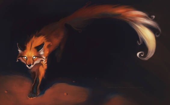 Super Long Tailed Red Fox