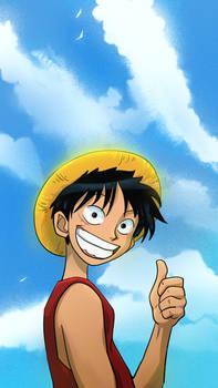 Luffy Fanart Screensaver for a friend
