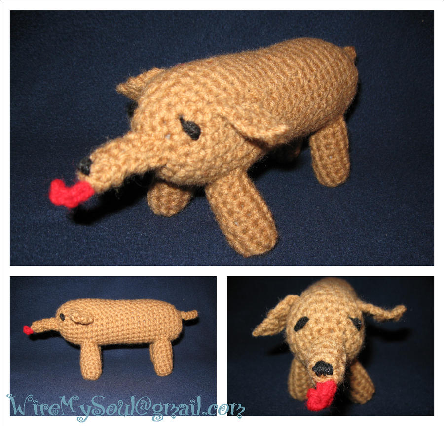 Amigurumi Dog Tail : Amigurumi Wiener Dog Wayne by WireMySoul on DeviantArt