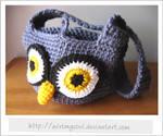Crocheted Owl Handbag