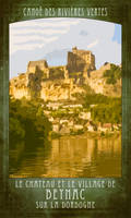 Canoeing under Beynac Castle by houselightgallery