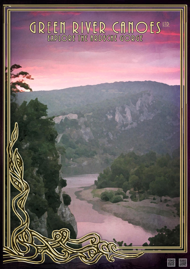 Canoe the Ardeche at Sunset by houselightgallery