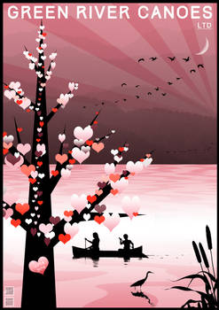 Valentines Day by Canoe