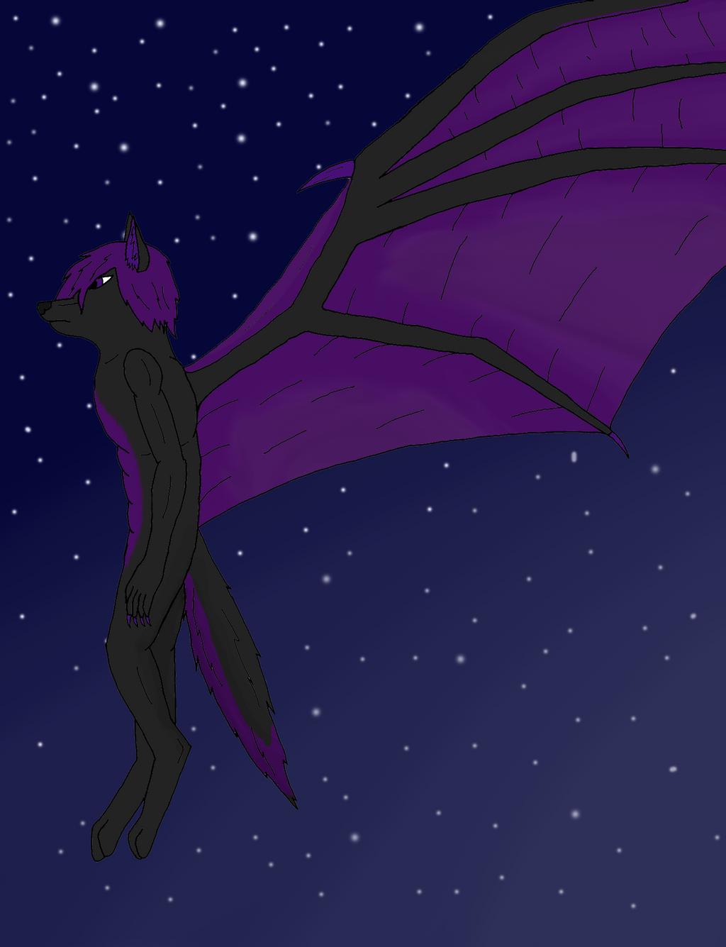 Winged Wolf Fursona Nashatok, the Winged W...