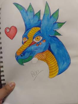 Xiuhcoatl - dragon OC