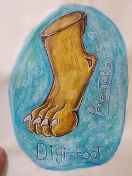 Digi feet -practicing drawing