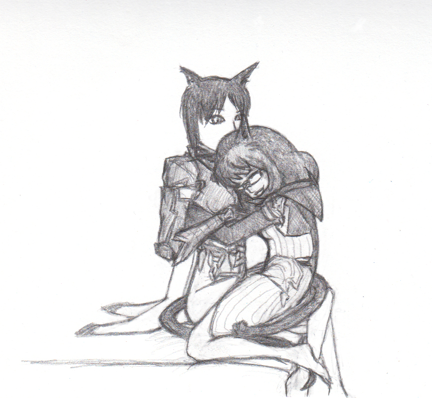 Snuggles in Pencil by wunleebuxton