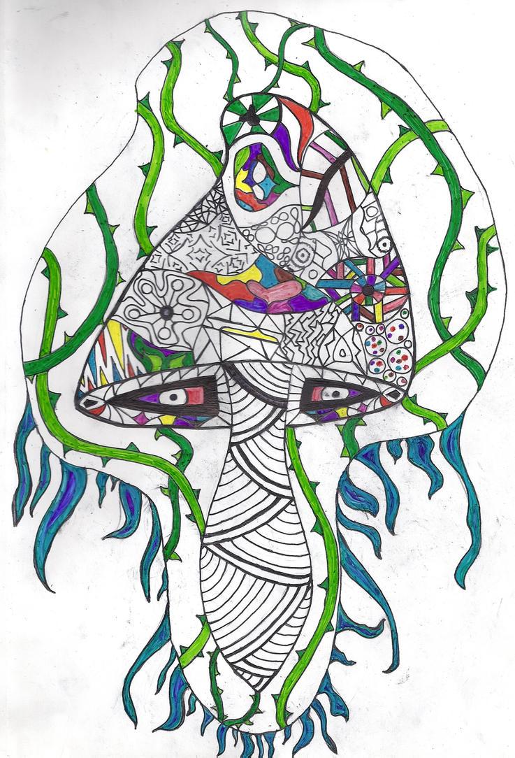Magic Mushroom Drawings Psychedelic Mushroom737 x 1084