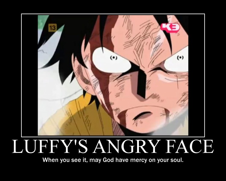 Luffy S Angry Face By Windmaster15 On Deviantart