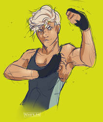 Show me those muscles, son by Nuhkah
