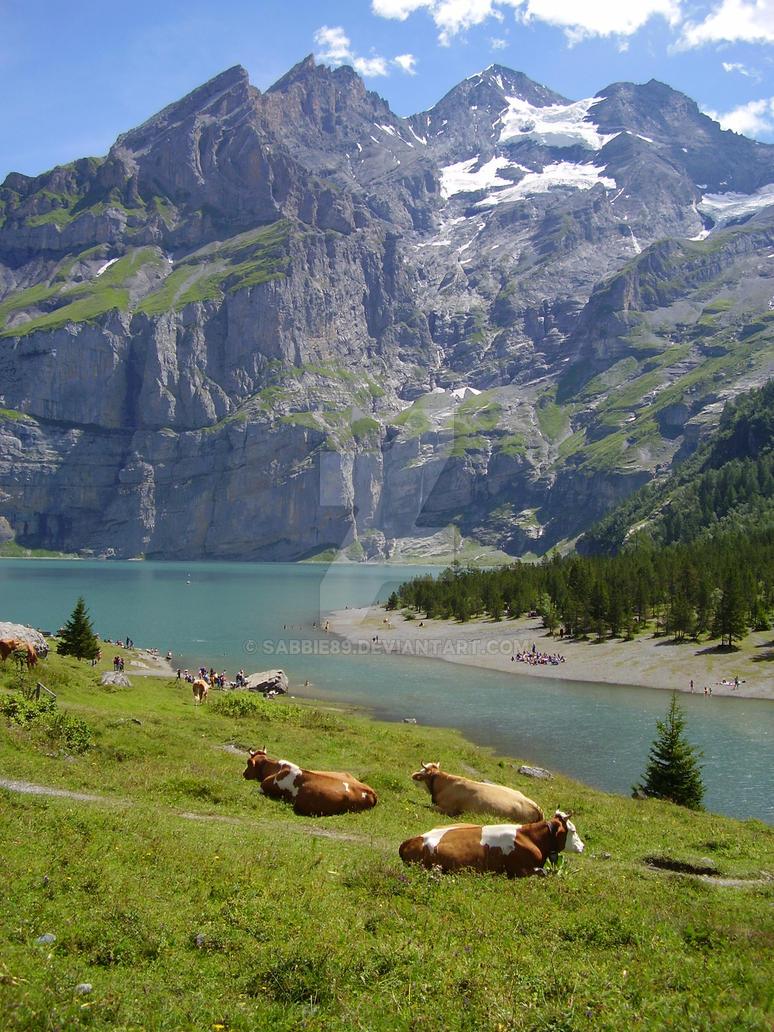 Oeschinensee or Oeschinen Lake by Sabbie89