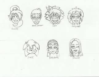 I Dream Of Shantae Heads/Icons by BlueStarKnight