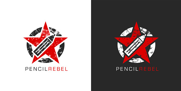 Pencil Rebel logo by 9gods High Quality Clear & Concise Logo Designs: Taken From DeviantART