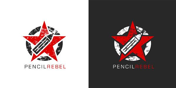 Pencil Rebel logo by 9gods