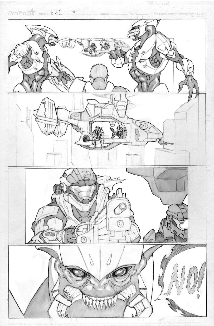 Halo Comic WIP by SamTodhunter