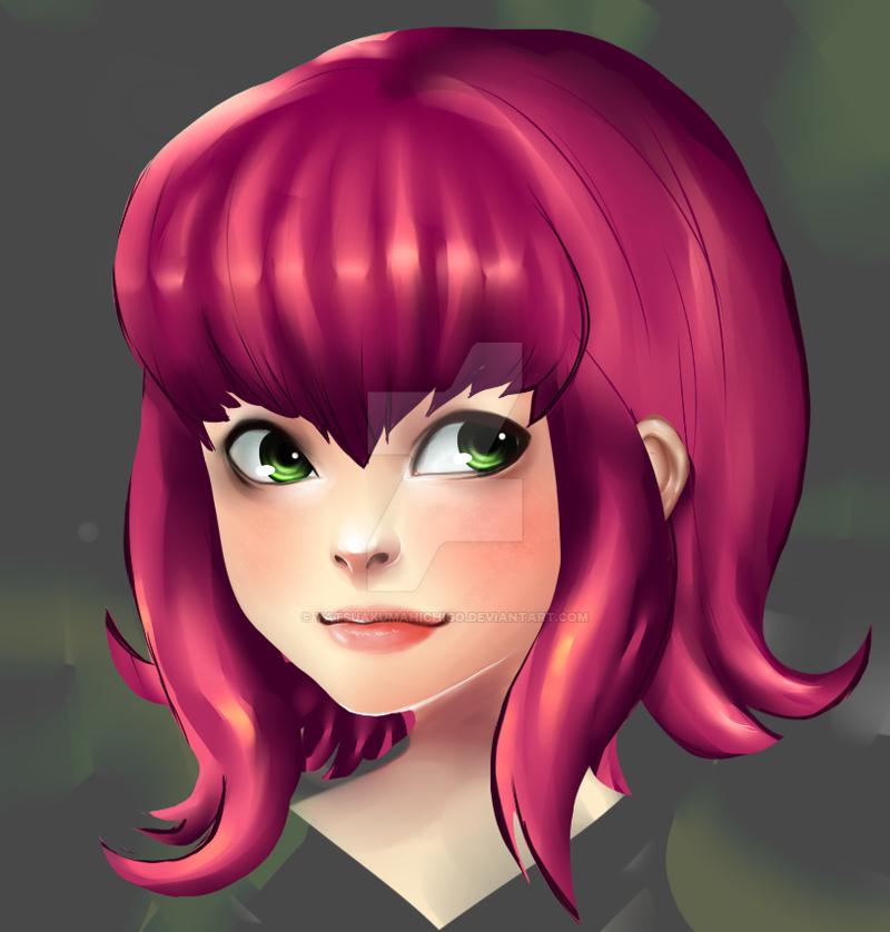 Annie-Portrait Practice by yatsuakumahichigo