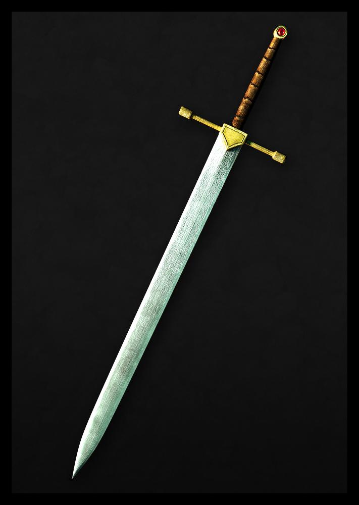 Knight Bastard Medieval Sword | darksword-armory.com |Fantasy Bastard Sword