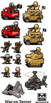 War on Afghanistan -Sprites