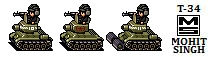 T-34 Tank -Sprites