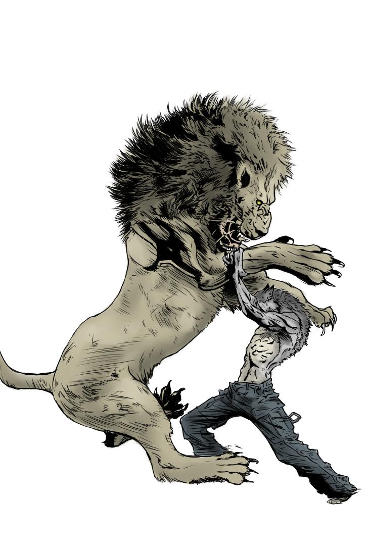 Lion vs Werewol...