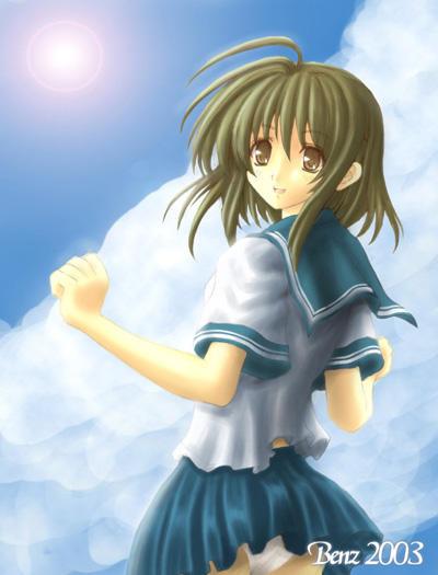 School girl in sailor uniform by benz10wheel