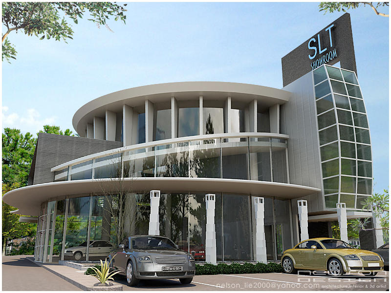 Car showroom another view by neellss on deviantart for Car showroom exterior design