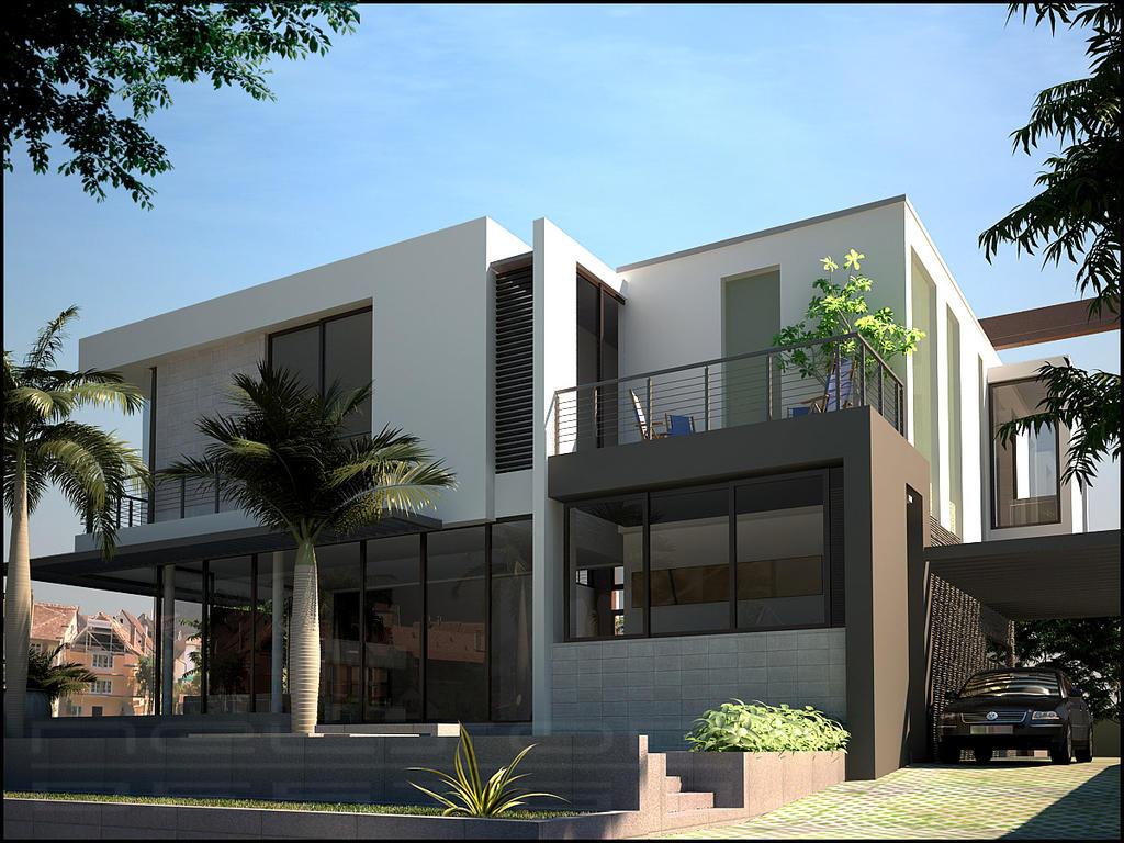 Creative designer home exteriors for Box house design