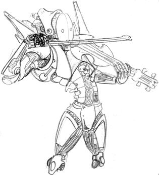 androide tocando el violin by tao-man
