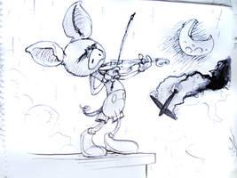 Violinista en la cornisa