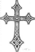 Celtic inspired Cross by Zim1987