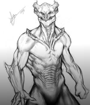 Dragon-man Sketch Remade