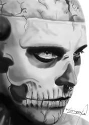 Zombie Boy Portrait by Mazrak18
