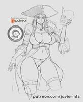 Pirate girl | Javiermtz | Patreon by javiermtz