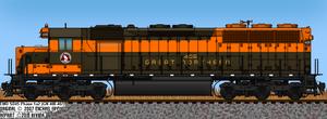 GN SD45 No. 405