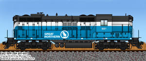 GN GP9 No. 681