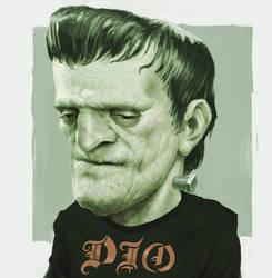 Frankenstein Sketch - Happy Halloween!