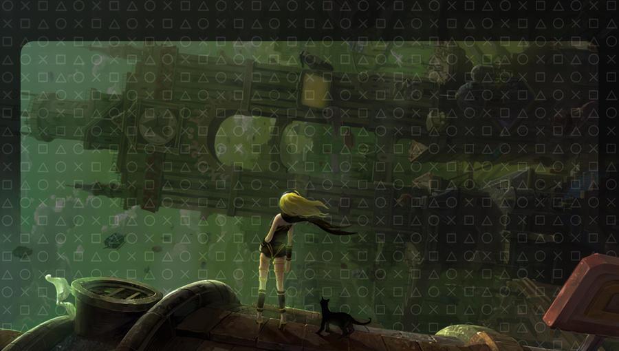 PS Vita Gravity Rush Lock Screen by Janku-Roketto