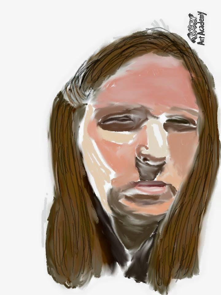 Harsh Sunlight Self Portrait by Elizabethjunean