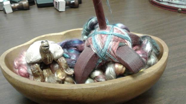 Spinning mulberry silk